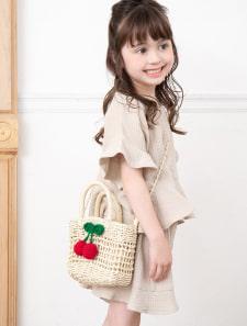 【KIDS】さくらんぼモチーフかごバッグ