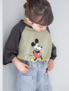 【KIDS】【Disney】ミッキー/ヴィンテージプリントTシャツ