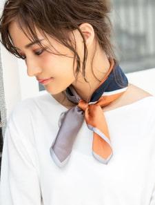 ブロックカラーシルクスカーフ