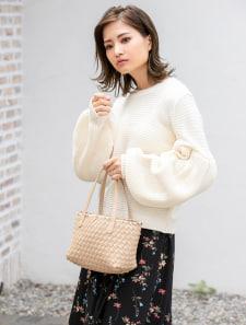 細編みミニトートバッグ