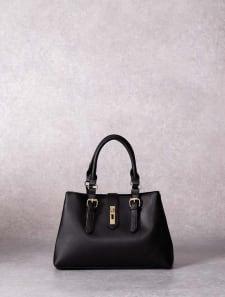 【High-Line】ハンドルベルトスリムフラップハンドバッグ