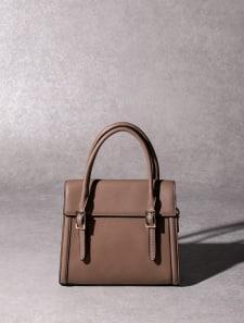 【High-Line】フラップハンドバッグ