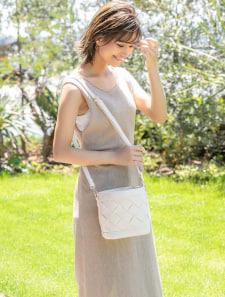 太編みバケツ型ショルダーバッグ