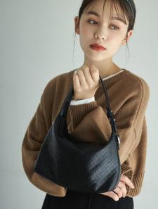 ワンハンドルメッシュ編みハンドバッグ