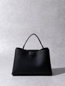 【High-Line】シンプルミディハンドバッグ