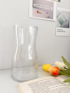 クリアガラスフラワーベース