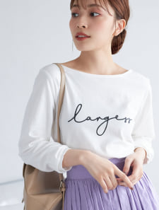 英字プリントロングTシャツ