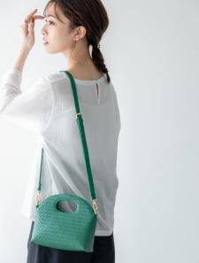 メッシュ編み2wayミニバッグ