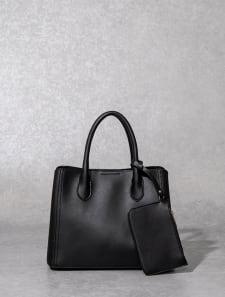 【High-Line】フロントリバーシブルシンプルハンドバッグ