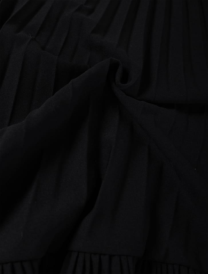 プリーツイレギュラースカート