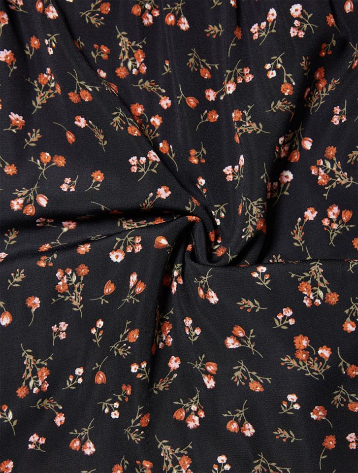 小花柄カシュクールロングワンピース