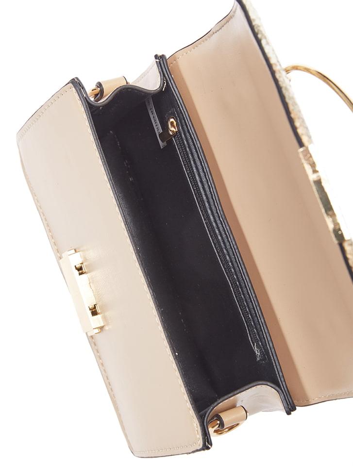 メタルハンドルハンドバッグ