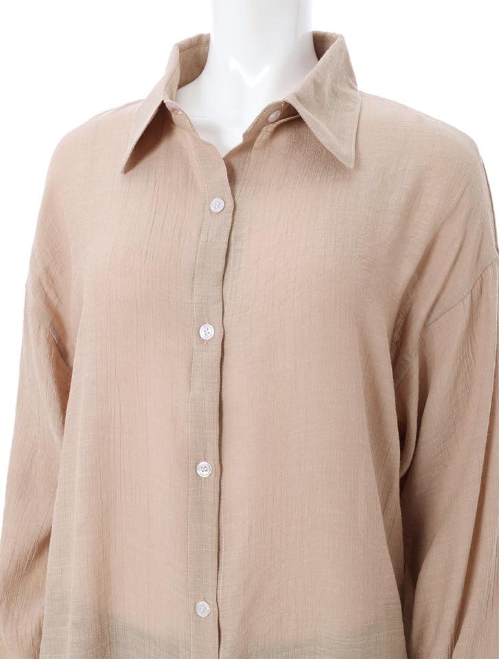 リネンライクロングシャツ