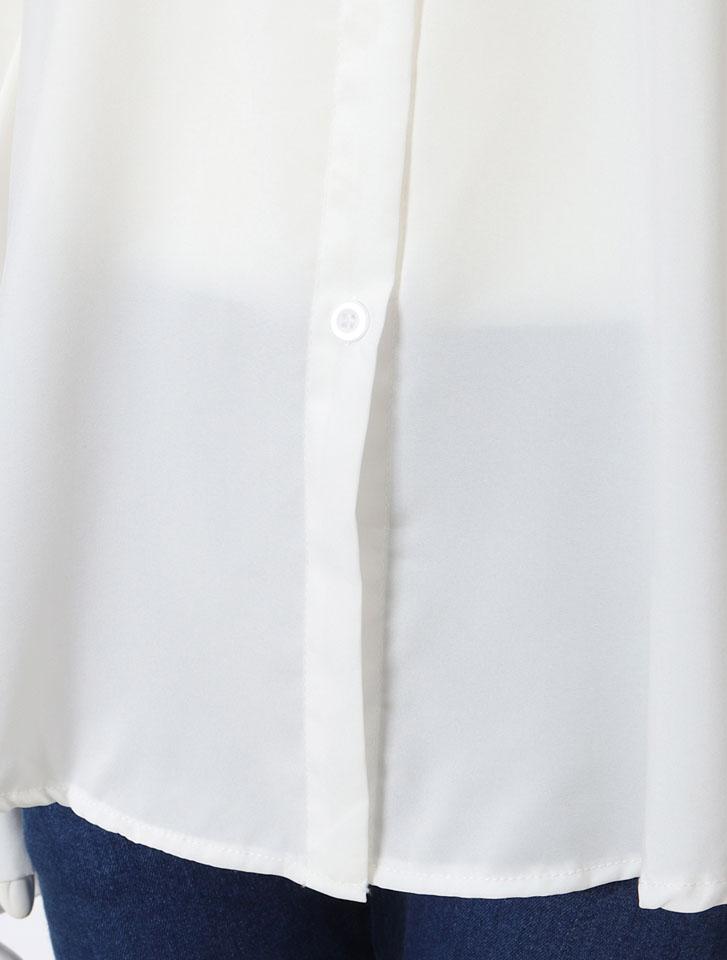 ボリュームスリーブリッチシャツ