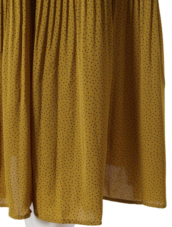 マイクロドットプリーツスカート