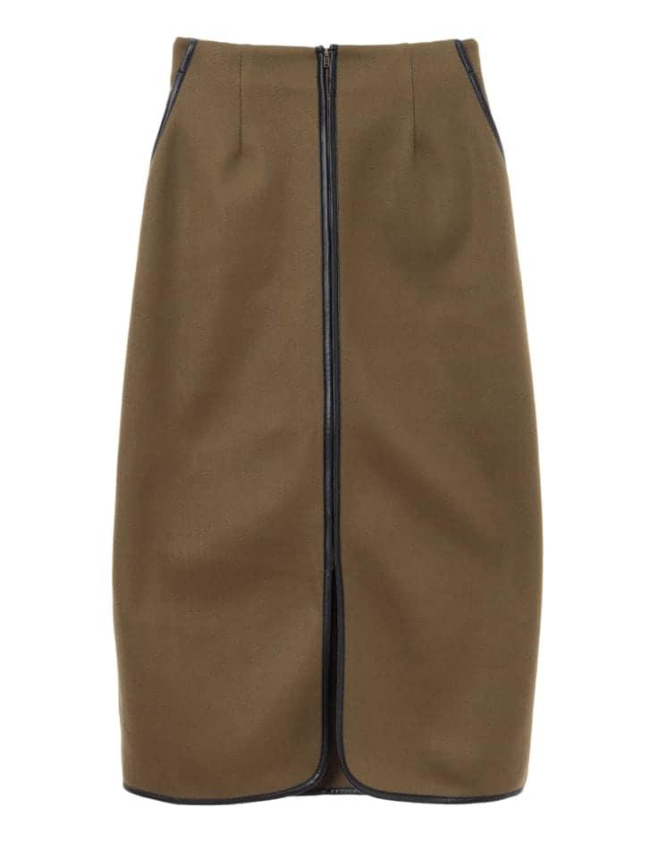 エコレザーパイピングタイトスカート