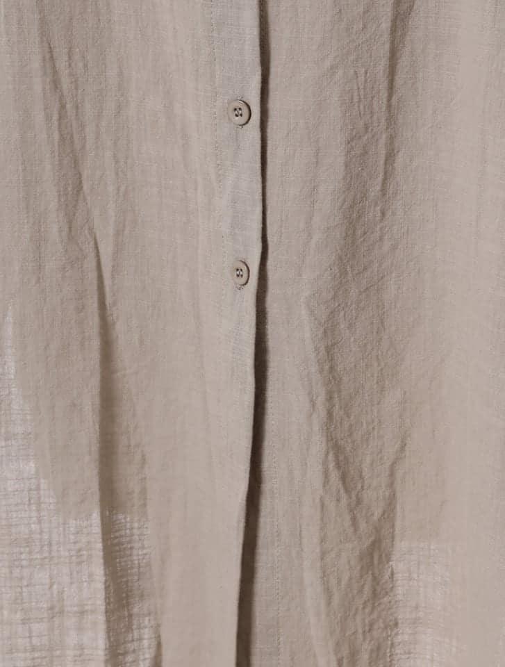 リネンライクシャツワンピース
