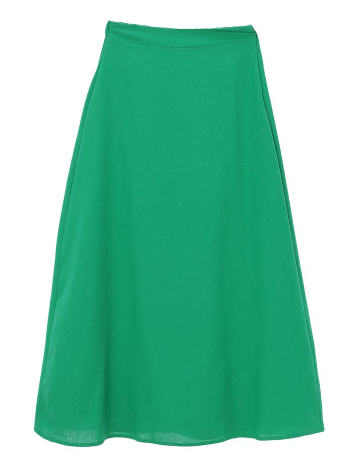 セミフレアロングスカート