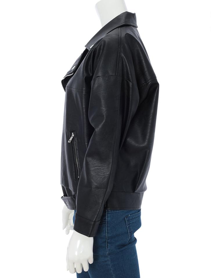 フェイクレザーライダースジャケット