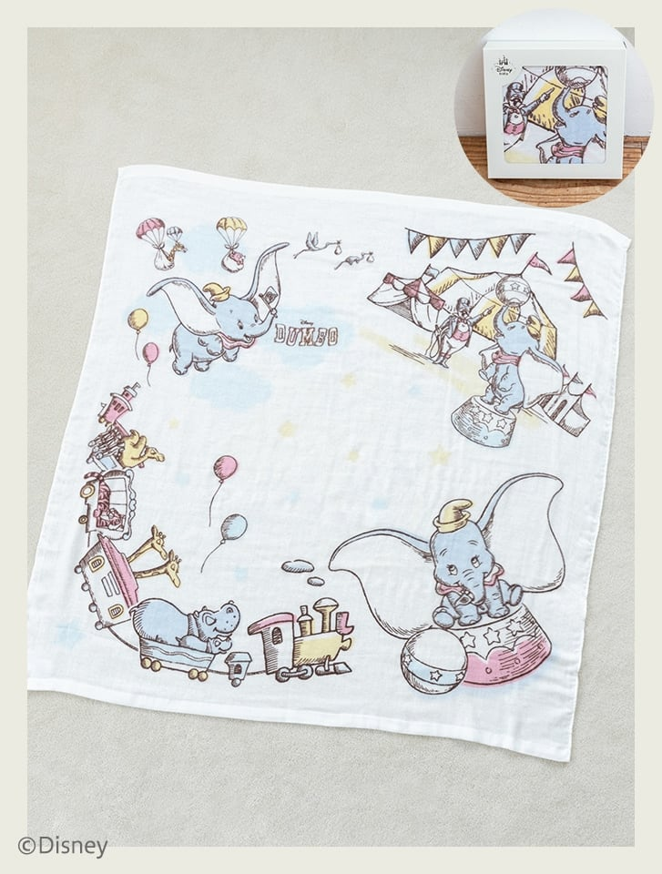 【Disney】ダンボ/コットンガーゼバスブランケット