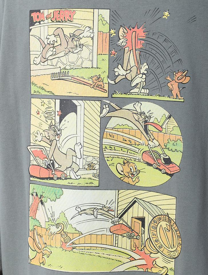 トムとジェリー/コミックアートロングTシャツ