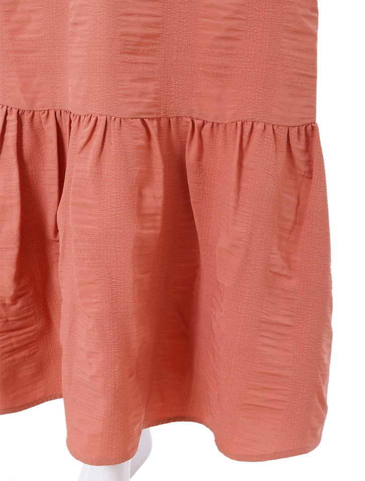 裾切り替えワッシャーフレアスカート