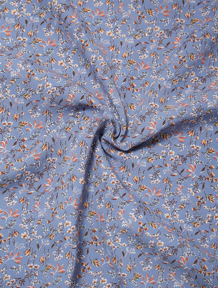 小花柄ブラウス×スカートセットアップ