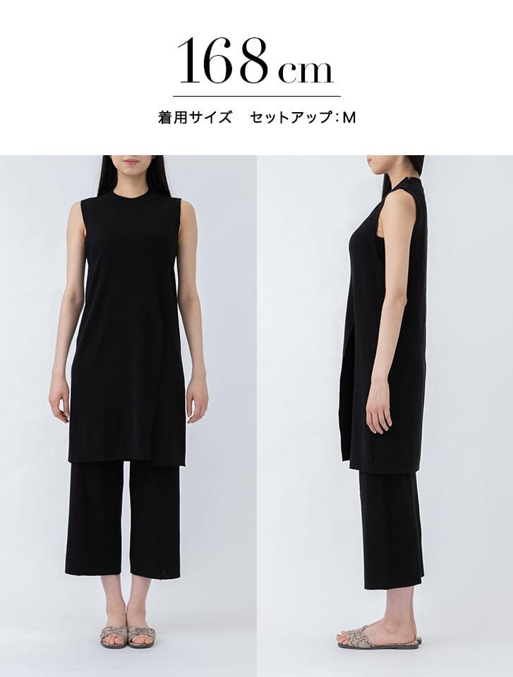 【Yukko Selected Items】サイドスリットノースリニットセットアップ