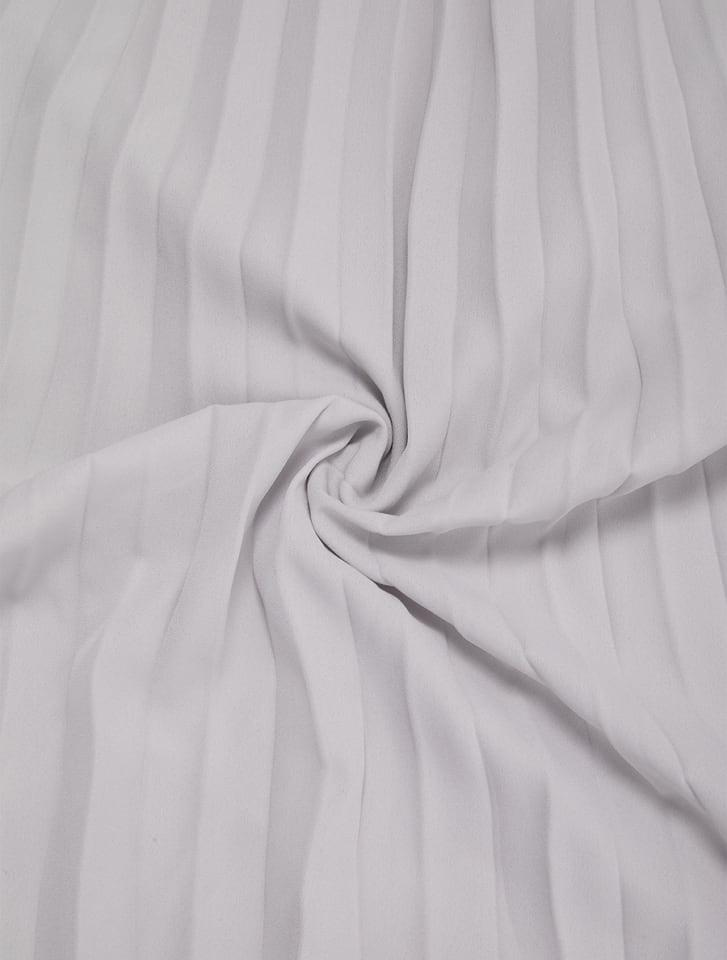 【星玲奈レコメンド】スタンドネックプリーツ切り替えシフォンワンピース