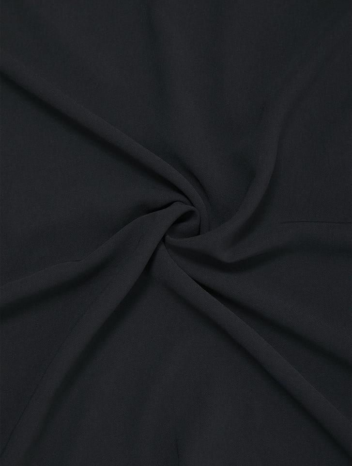 ボタンデザインボリューム袖フレアワンピース