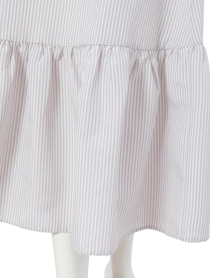 細ストライプマーメイドロングスカート