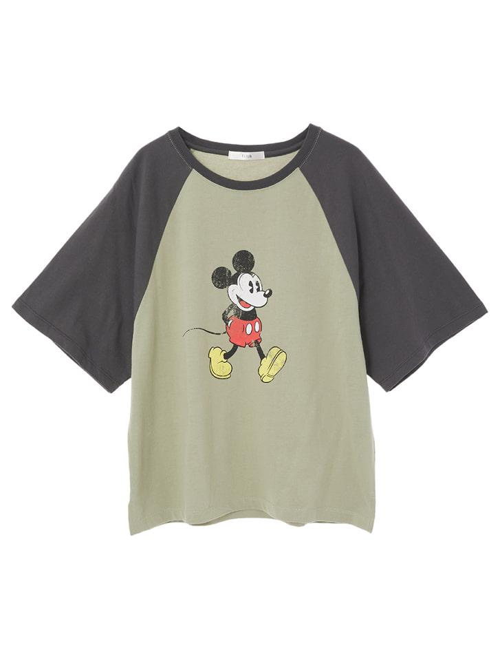 【Disney】ミッキー/ヴィンテージプリントTシャツ