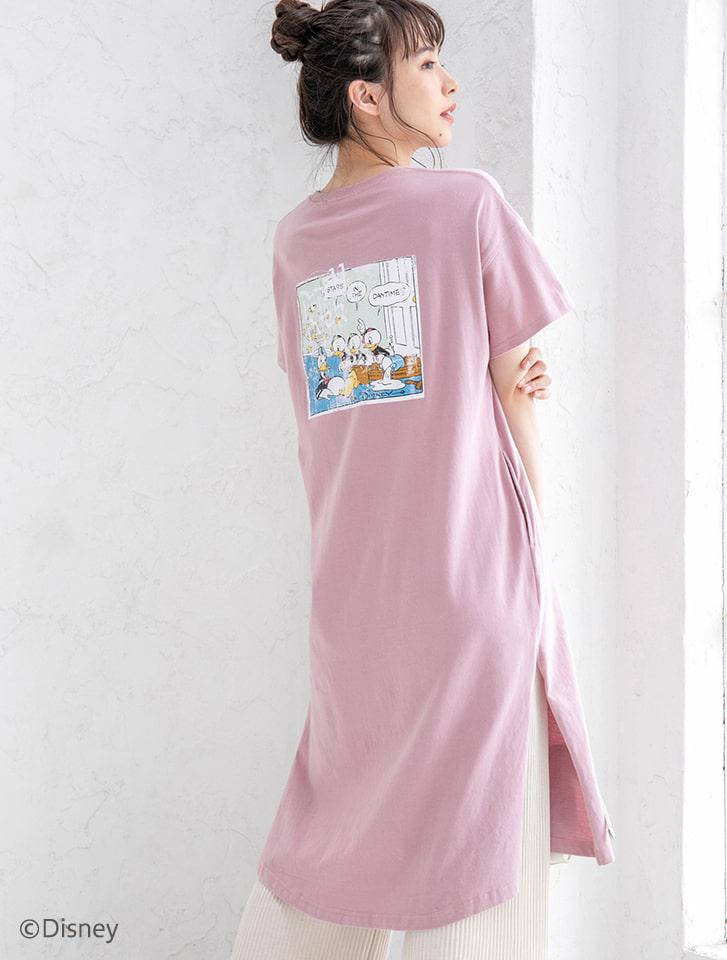 【Disney】ドナルド/ヴィンテージプリントTシャツワンピース