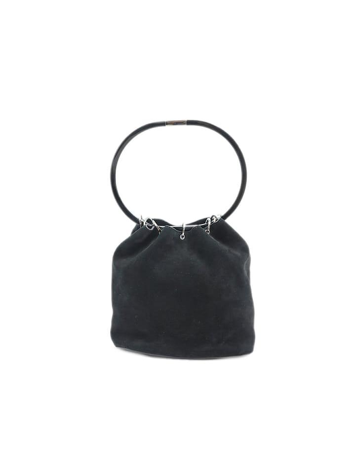 【GUCCI】スウェードプラスチックハンドルバッグ