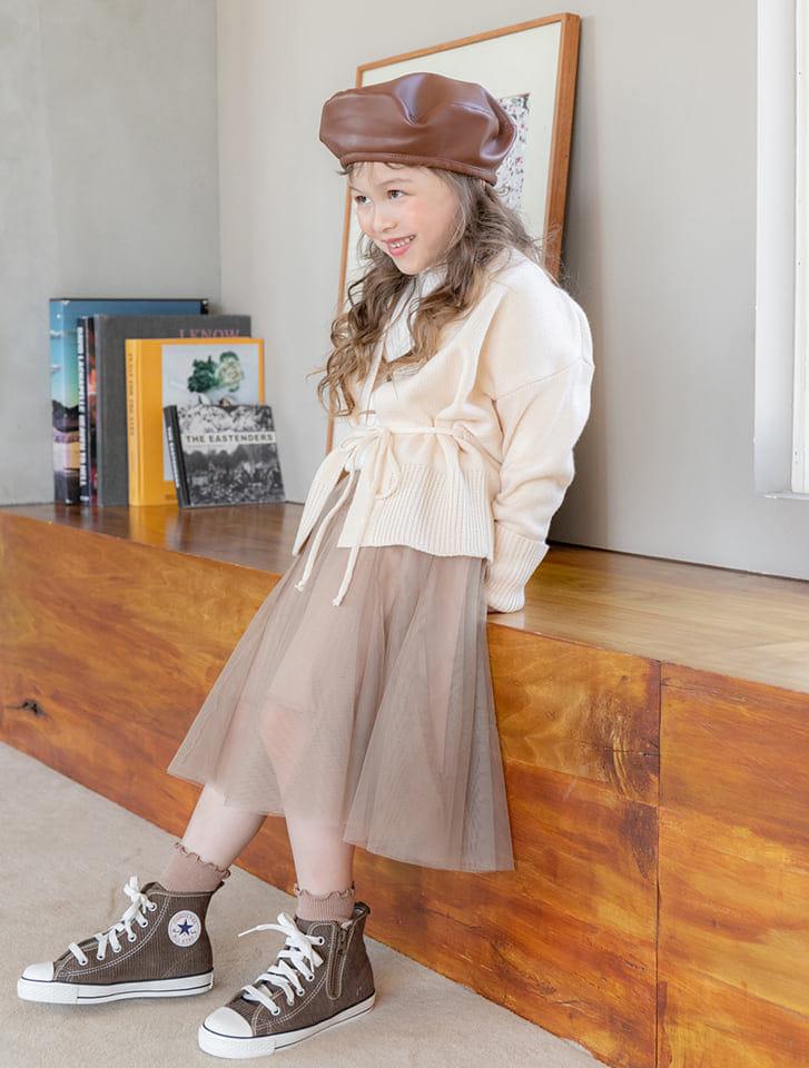 【KIDS】チュールロングスカート