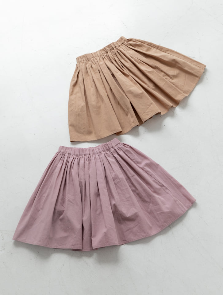 【KIDS】コットンフレアキュロットスカート