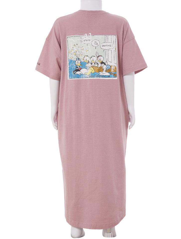 【KIDS】【Disney】ドナルド/ヴィンテージプリントTシャツワンピース