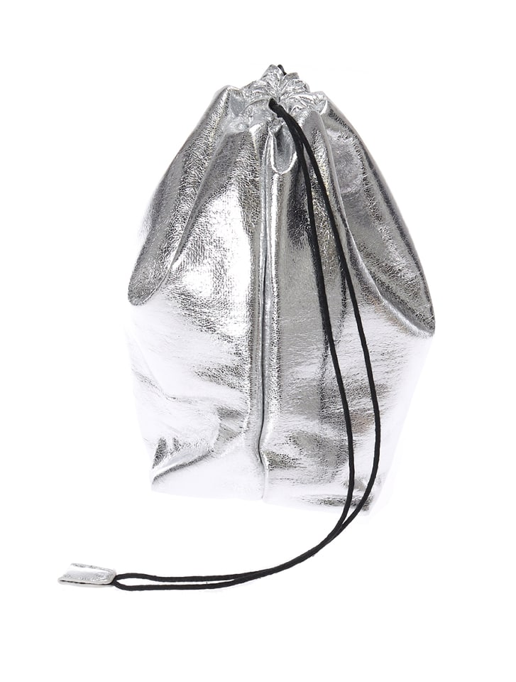 メタリック巾着バッグ