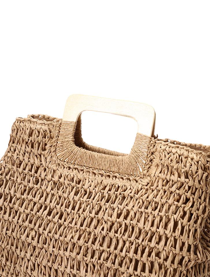 ウッドハンドルサマーバッグ