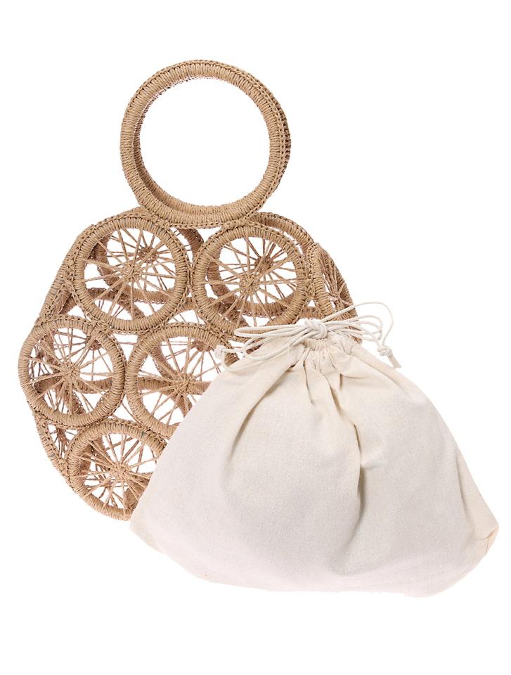 デザインサークルハンドバッグ