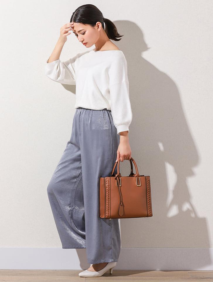 【High-Line】サイドデザインスクエアハンドバッグ