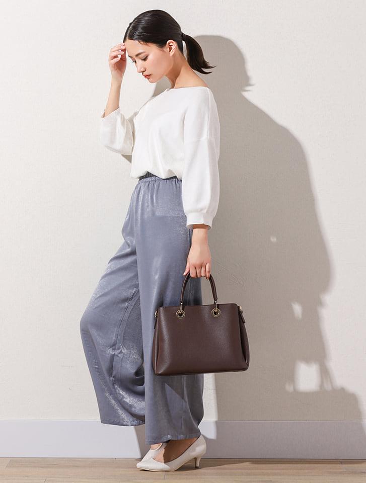 【High-Line】カフェカラーハンドバッグ
