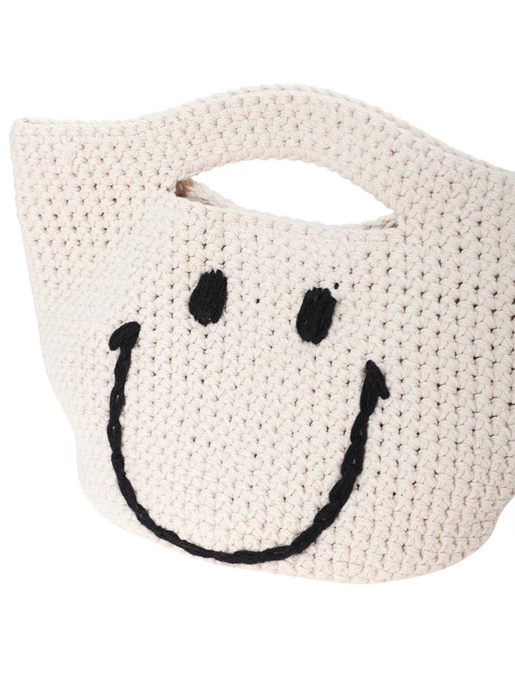 手編みニコちゃんトートバッグ
