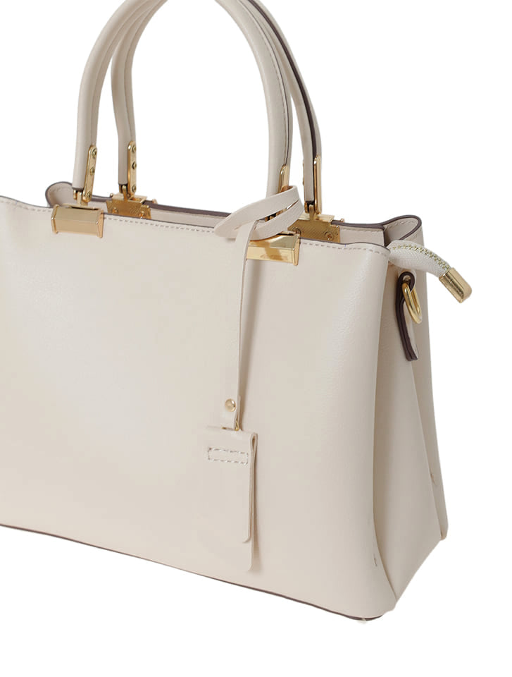 【High-Line】ポイントゴールドシャーベットカラースクエアハンドバッグ