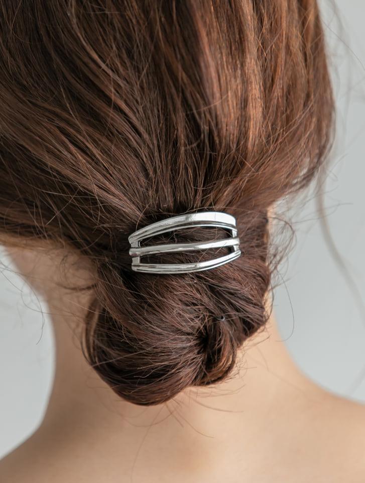 3ラインメタリックヘアカフ
