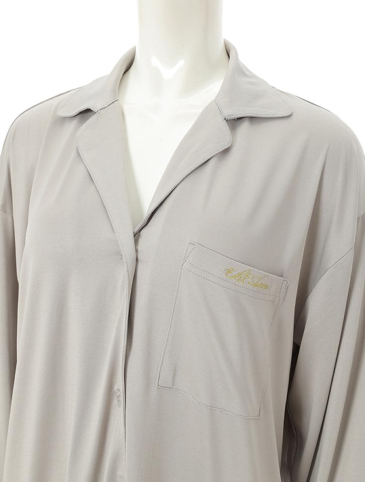 クールタッチシャツ型ミニワンピース