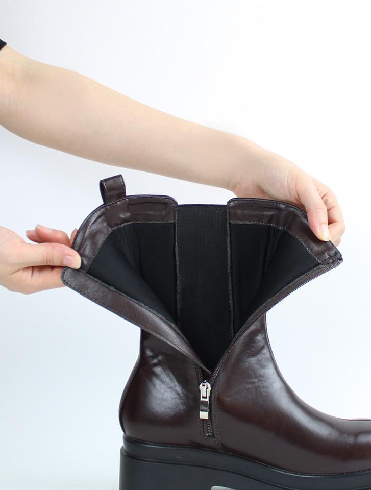 厚底サイドゴアミドルブーツ