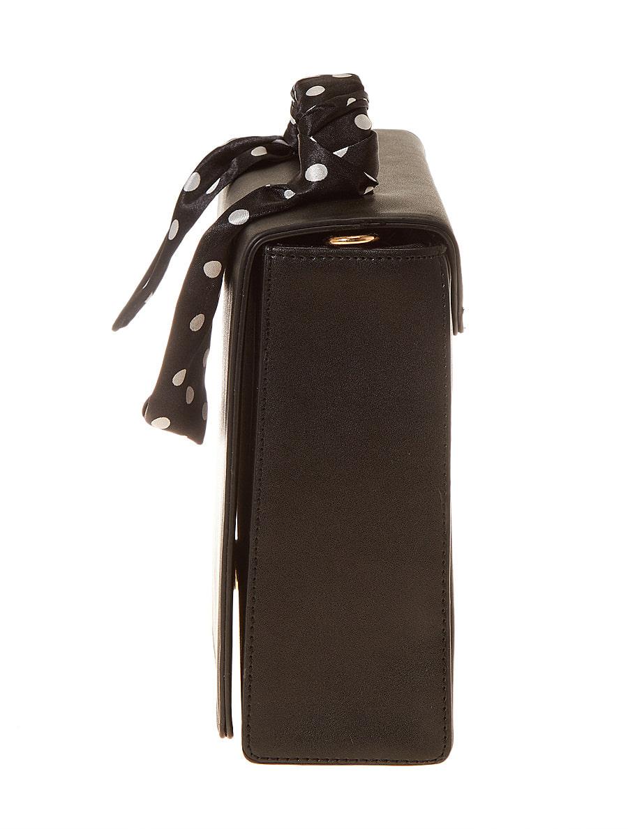 ドットスカーフ付スクエアハンドバッグ