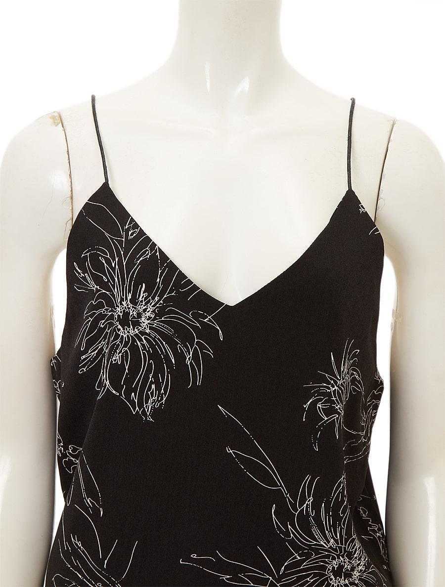 モノトーン花柄キャミソール