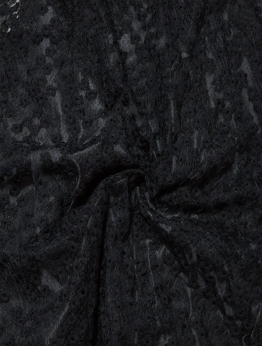 オーガンジーフラワーフレアスカート
